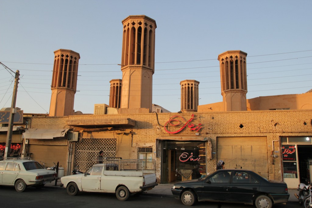 Windcatchers near the Amir Chaqmagh Mosque Complex