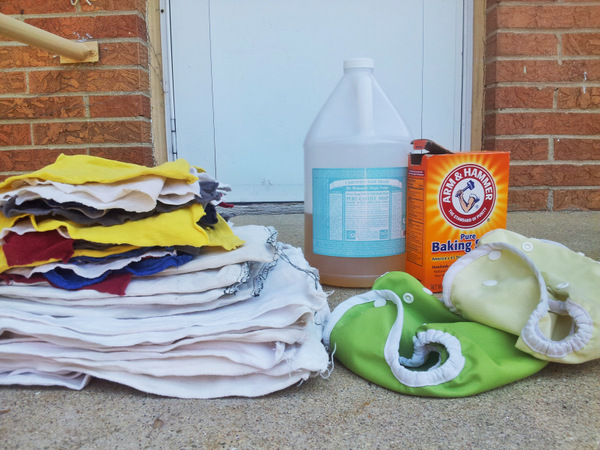 cloth diapers and supplies