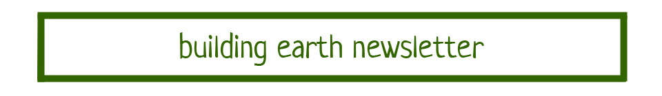 building earth newsletter