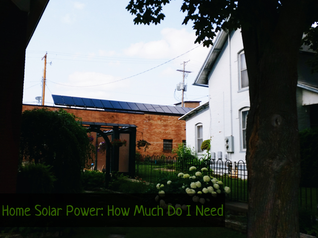 How much solar power do I need